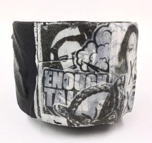 3 x 3.75 x 3.75, stoneware, porcelain slip, ash glaze, cone 10 reduction
