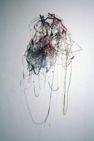 "Benjamin Demott, ""Carousel Ring"", 2007, H 30"" x W 18"" x D 13"", terracotta, paint, glue, fake snow"