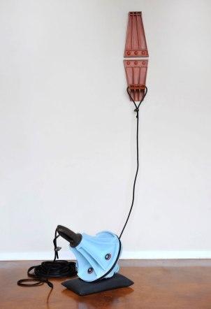 Terra cotta clay,06 glaze,rope,hardware and sandbag, 9' tall, 2013