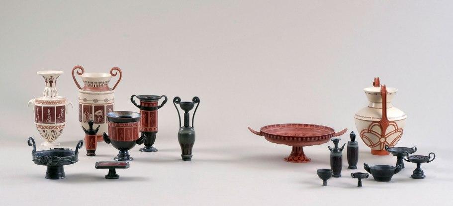 Earthenware, pigments, glazes. Slipcast, handbuilt, overglaze print, electric firing. Various sizes. 2013