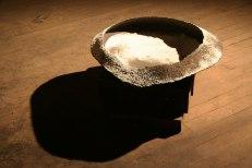 """Stoneware, Grog, Glaze, Porcelain, 7""""x30""""x32"""", 2012"""