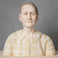 2010, life size: 21 x 21 x 13 inch (53 x 53 x 34 cm). Hand build ceramics and pigments, fired at 1868°F (1020°C) watercolored