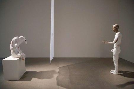 dimensions vary (installation view), Earthenware, Silk organza, 2017