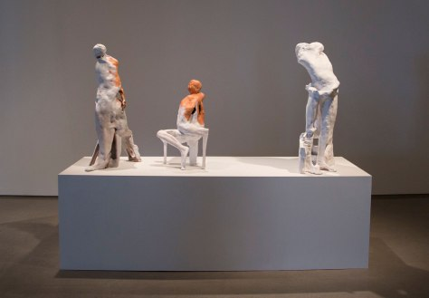 """left:31"""" x 11"""" x 40.5"""",middle:17.5"""" x 13.5"""" x 29.5"""",right:25"""" x 19"""" x 43"""", Earthenware, 2017"""
