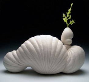 "2012, porcelain & glass, 16"" x 18"" x 8"""