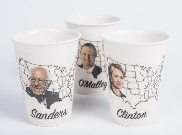 "porcelain party cups, decals, 6""x 4"""