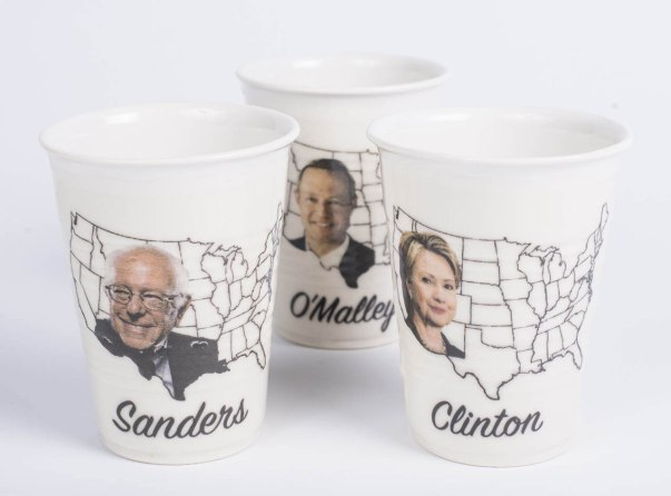 "porcelain party cups, decals, 6""x 4"""
