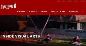 Hastings College website screenshot