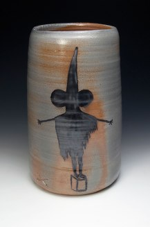 War Crock (#getsome), ceramic, wood soda fired, 20x9x9""