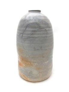 """War Crock (#forEhrenTool), ceramic, wood soda fired, 22x9x9"""", 2013"""