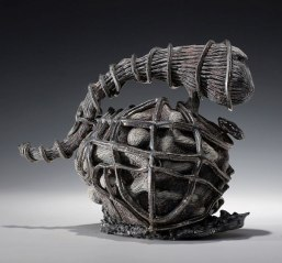 """Kuwait, 8""""w.x 7""""h. x 7""""d. Ceramic multi-fired with lusters. 2012"""