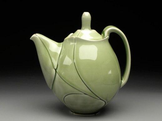 """Green Leaf Teapot, 2012, 8x6x8"""""""