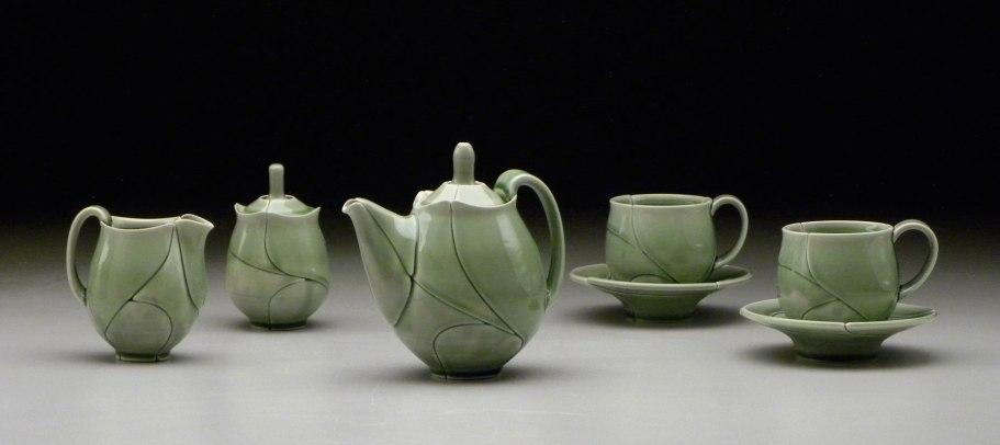 Green Leaf Tea Set, 2012, dimensions variable