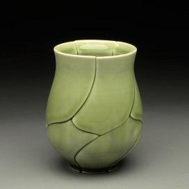 """Green Leaf Yunomi, 2012, 3x3x3"""""""