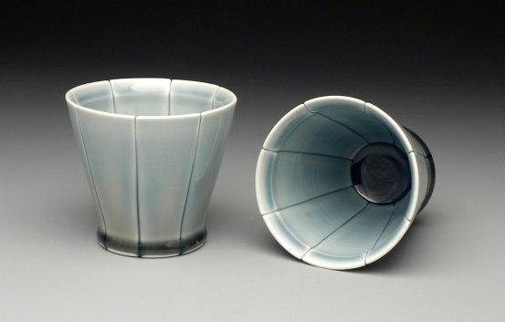"""Strip Cocktail Cups, 2011, 4x4x4"""" each"""