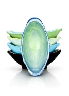 """Justin Donofrio, """"Banana Boat Stack: Colored Porcelain"""""""