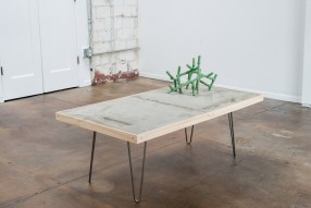 """Jon P Geiger, """"Topo Table with Blossom #2"""""""
