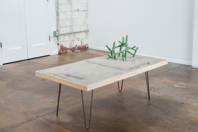 "Jon P Geiger, ""Topo Table with Blossom #2"""