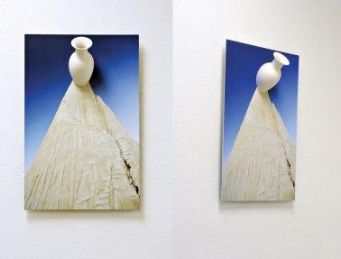 "Slip cast and hand-machined ceramic, archival inkjet print, aluminum, 30 x 20 x 6"""