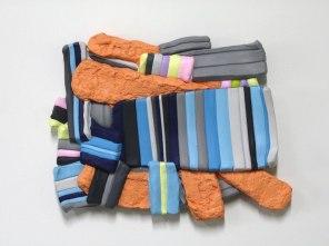 Ceramic, Acrylic, 13 x 16 x 2 inches, 2012