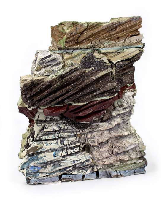 2015, Various reclaimed ceramic materials; 12.5″ x 10″ x 8″