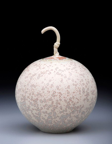 Porcelain, Cone 10 Oxidation, Matte Crystalline Glaze, 11 inches tall