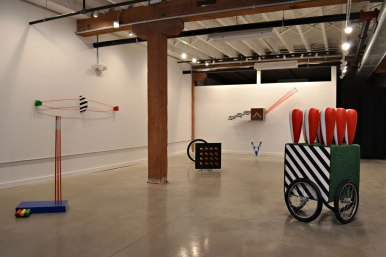 """Installation View of """"Charting Course"""" at the Pine Box Art Center"""