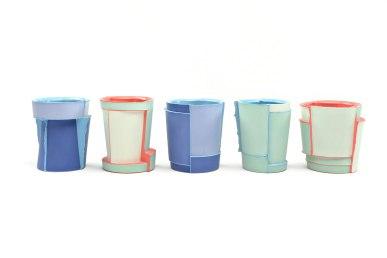 Slipcast, Porcelain, cone 6 Oxidation, 3in x 2.5in x 2.5in each