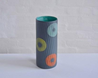 """Kelly Justice, """"Pinwheel Vase"""""""