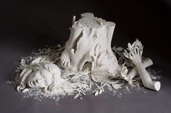 "53""x17""x40"", hand built porcelain, 2007"