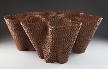 "Keith Simpson, ""Lofted Shale Vases"""