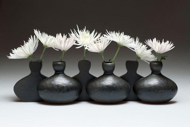 "2014. Slip cast porcelain using modular mold system, 30"" x 6"" x 9″ (variable)"