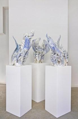 "2017, glasiertes Porzellan Höhe 70 cm - glazed porcelain, height, 27,5"""
