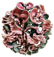 glasierte Keramik,56 cm x 56 cm x 23 cm – glazed ceramic, 22'' x 22'' x 9''