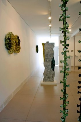 Installation view, including Untitled and Column from Garrison Art Center. 2012