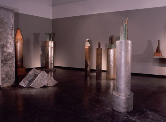 installation, University Galleries, University of Florida, Gainesville FL, terracotta, steel, wood