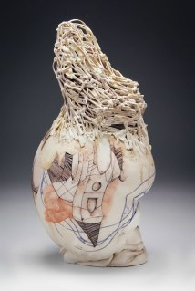 "porcelain, glaze, china paint, 16"" x 9"" x 7"", 2014"