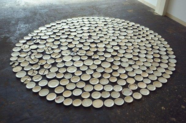 2013, porcelain plates, dimensions variable