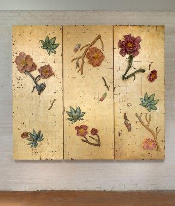 9ft X 8ft X 1ft, Wood, Gold Leaf, Ceramics, Glaze, and China Paint, 2017