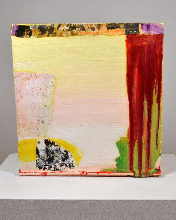 "red earthenware, slips, glaze. 22""h x 22""w x 6""d, 2013."