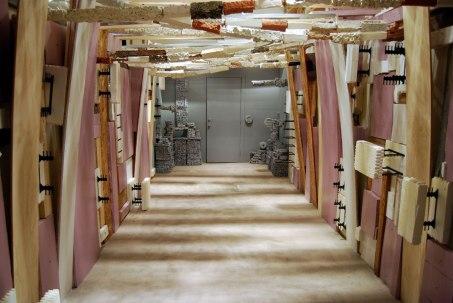 9'x 9'x 25'. Earthenware, Foam, Wood, Drywall, Metal and Paint, 2015