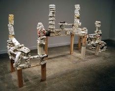 Ceramic, Wood, Plaster, Concrete, Thread, Chalk. 7'x11'x7', 2013