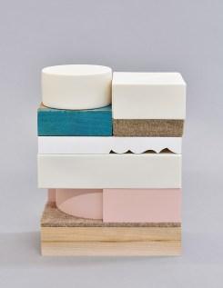 2017, porcelain, wood, wool felt, Ren foam, MDF, 11.5x8x4
