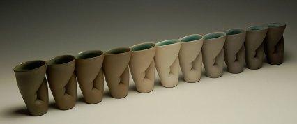 """Slip-cast porcelain, 4""""x3""""x30"""""""