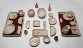 Cone 6 Slip-cast Porcelain, rubber. 2014