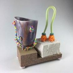 """2018, Ceramic, wood filament, epoxy, Styrofoam, 5""""x4""""x3"""""""