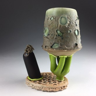 "2018, Ceramic, PLA filament, epoxy glue, 5""x3.5""x3"""