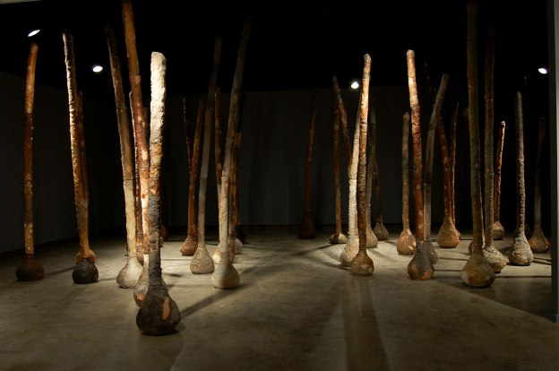 Wood-fired and wood-soda fired stoneware and white stoneware, 11'x25'x25'