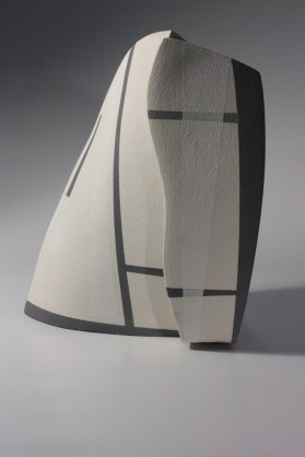 2015. Stoneware. Slab Built, sanded, underglazed and sealed. h32 x w28 x d29cm