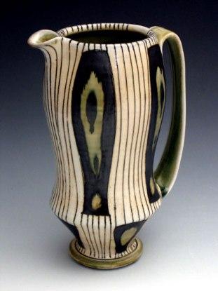 """9""""h x 4""""w x 3""""d, soda fired porcelain, cone 10, 2007"""